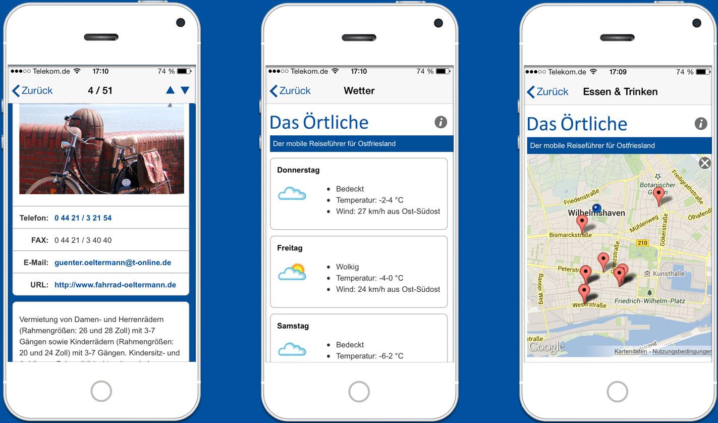 Fahrradwege Ostfriesland Karte.Die Ostfriesland App Dein Kostenloser Reiseführer Von Das örtliche
