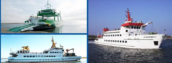 Fährenführer ostfriesische Inseln